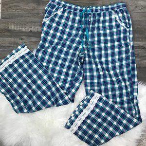 Victoria's Secret Blue White Purple Pajama Pants